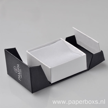 New Style Black Cardboard Gift Paper Jewelry Boxes